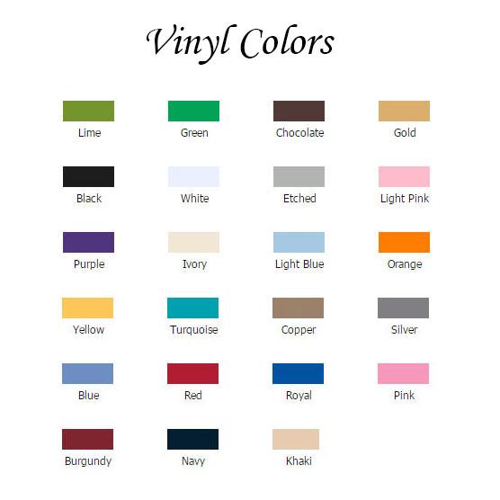 Vinyl Color Choices
