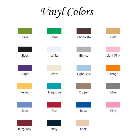Vinyl Color Choices